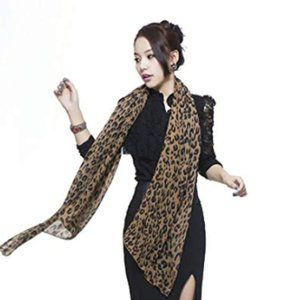 NEW LEOPARD PATTERN ANIMAL PRINT SHAWL/SCARF/WRAP